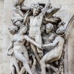 La Danse, sculpture on the facade of the Paris Opera — Stock Photo