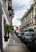 View of the Moulin Rouge in the street — Stock Photo