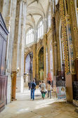 The grand interior of the landmark Saint-Eustache church — Stock Photo