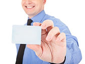 Here's a card — Stock Photo