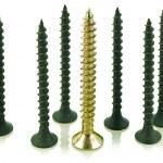 Black and brass angled screws — Stock Photo #2861419