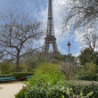View of the Eiffel Tower — Stock Photo