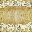 Letter seamless texture with space for text — Stock Photo #29989673
