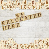 We relocated here — Stock Photo
