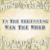 In the beginning was the Word — Stock Photo