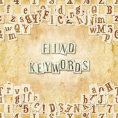 Find keywords — Stock Photo