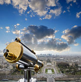 View from the Eiffel Tower at La Defense quarter — Stock Photo