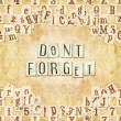Постер, плакат: Dont forget