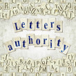 Stock Photo: Letters authority