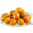 Stock Photo: Group olives on plate