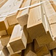 Stack of wooden rectangular blocks — Stock Photo
