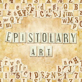 Epistolary art — Stock Photo