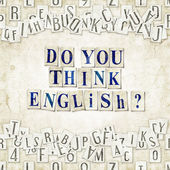 Do you think English ? — Stock Photo