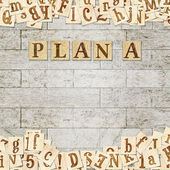 "Main phrase "" Plan A "" — Stock Photo"