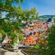 Krumlov town from castle , Czech — Stock Photo #42660787