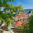 Krumlov town from castle , Czech — Stock Photo