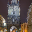 Powder tower(gate) at evening in Prague, Czech Republic — Stock Photo