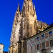 The west facade of St. Vitus Cathedral in Prague (Czech Republic — Stock Photo