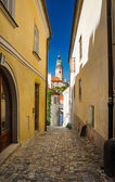 At the old streets of Czech Krumlov, Czech Republic — Stock Photo