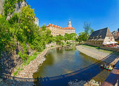 View on Castle in Cesky Krumlov — Stock Photo