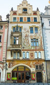 The facades of houses in the Old Town — Stock Photo