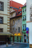 Streets of the old city in the early morning — Stock Photo