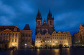 Church of Our Lady before Tyn is a gothic church in Old Town of  — Stock Photo