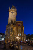 Nightshot of Prague Town Hall (Rathaus) in Czech Republic — Stock Photo