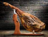 Iberian ham isolated — Stock Photo