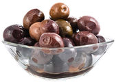 Shiny black olives — Stock Photo