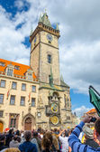 The famous clock tower of Prague City Hall  — Stock Photo