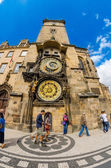The famous clock tower of Prague City Hall  — Foto de Stock