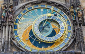 Astronomical clock in Prague closeup — Stock Photo