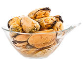 Mussels on white background — Stock Photo