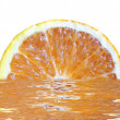The orange juice — Stockfoto