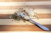 Las especias y la sal — Foto de Stock