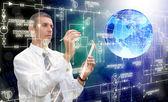 A tecnologia de conexão nova concepção — Foto Stock