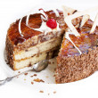 Sweet appetizing fresh torte — Stock Photo #13340054
