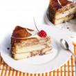 Sweet appetizing fresh torte.Torte — Stock Photo