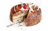 Sweet appetizing fresh torte — Stock Photo