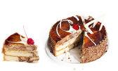 Creative sweet biscuit torte — Stock Photo