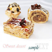 Fruitcake. Sweet dessert — Stock Photo