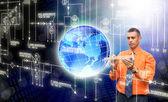 Tecnología de equipos innovadores de creación — Foto de Stock