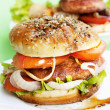 Burger with meat - Foto de Stock