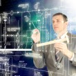 Stock Photo: Engineering automation designing.Energy