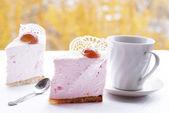 Galleta de hojaldre fruta rosa — Foto de Stock