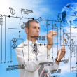 Stock Photo: Engineering automation building designing