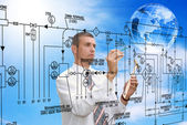 Engineering automation building designing — Stock Photo