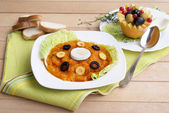 Vegetable soup puree — Stock Photo