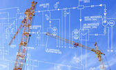 Engineering construction designing — Stock Photo